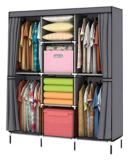 49fd070224641 Simple Fold Non-woven wardrobe Storage Organizer cupboard furniture ...